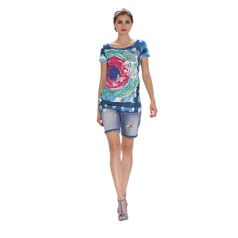 Buy Desigual Diaza T-Shirt, Blue Online at johnlewis.com