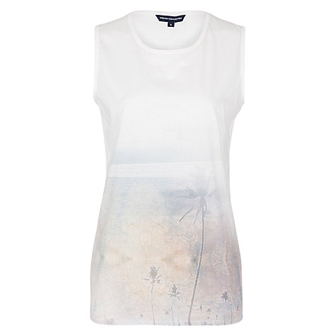 Buy French Connection Digital Daisy Vest Top, White Multi Online at johnlewis.com