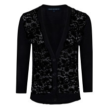 Buy French Connection Boy Crochet Cardigan, Black Online at johnlewis.com