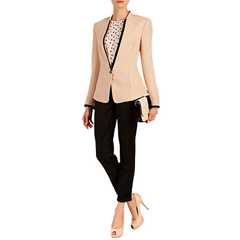 Buy Ted Baker Teamo Crepe Blazer, Nude Pink Online at johnlewis.com