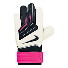 Buy Nike Grip Junior Goalkeeper Gloves, White/Pink Online at johnlewis.com