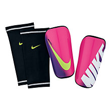 Buy Nike Mercurial Shin Guards And Stays, Pink/Purple Online at johnlewis.com