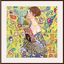 Buy Gustav Klimt - Lady with Fan Online at johnlewis.com