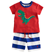 Buy Baby Joule Nipper Dinosaur Shorts and T-Shirt Set, Multi Online at johnlewis.com