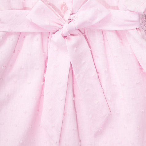 Buy John Lewis Baby Smock Dress, Pink Online at johnlewis.com