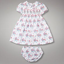 Buy John Lewis Baby Smocked Dress with Bloomers, Multi Online at johnlewis.com