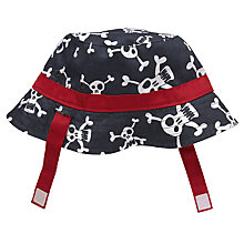 Buy John Lewis Skull and Crossbones Bucket Hat, Navy/White Online at johnlewis.com