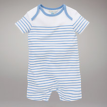 Buy John Lewis Baby Striped Romper, Blue Online at johnlewis.com