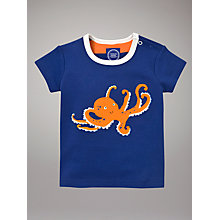 Buy Baby Joule Octopus Jersey Top, Dark Blue Online at johnlewis.com