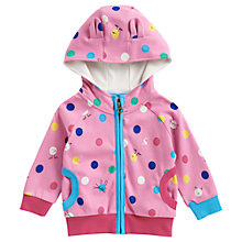 Buy Baby Joule Franci Spotted Zip-Through Hoodie, Pink/Multi Online at johnlewis.com