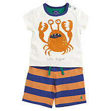 Buy Baby Joule Little Nipper T-Shirt and Striped Shorts Set, Multi Online at johnlewis.com