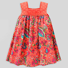 Buy John Lewis Lace Front Butterfly Dress, Coral Online at johnlewis.com