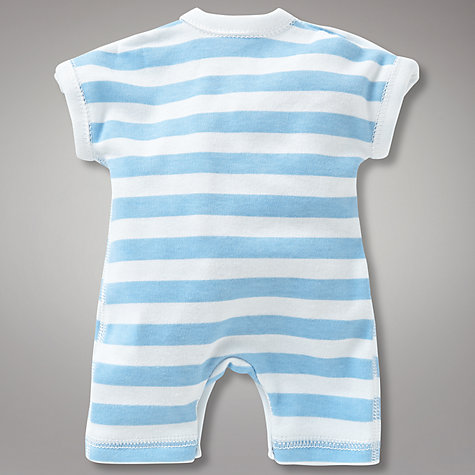 Buy Teddy & Me Striped Romper, Blue Online at johnlewis.com