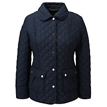Buy Viyella Quilted Riding Jacket, Navy Online at johnlewis.com