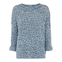 Buy Oasis Flecked Jumper, Light Blue Online at johnlewis.com