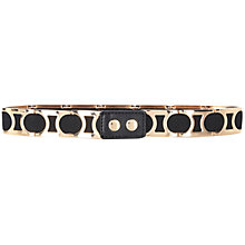 Buy Warehouse Metal Sections Stretch Belt, Black Online at johnlewis.com