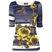 Buy Phase Eight Stripe Floral Top, Navy/Citrus Online at johnlewis.com