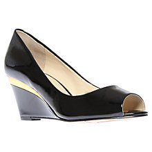 Buy Nine West Shockmode3 Wedge Heel Peep-Toe Court Shoes Online at johnlewis.com