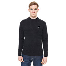 Buy Original Penguin Cable Knit Jumper, Black Online at johnlewis.com