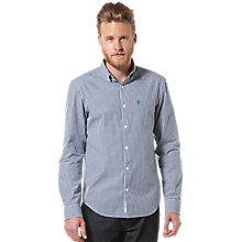 Buy Original Penguin Gingham Long Sleeve Shirt, Blue Online at johnlewis.com