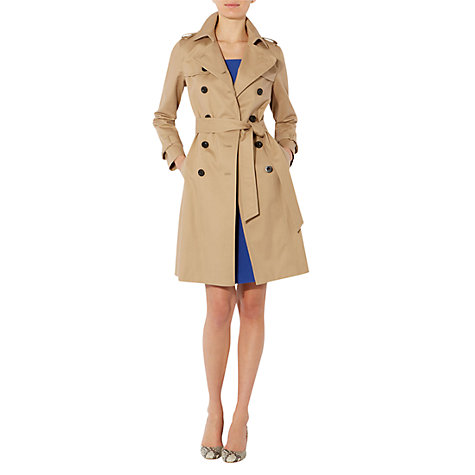 Buy Hobbs Saskia Trench Coat, Natural Online at johnlewis.com