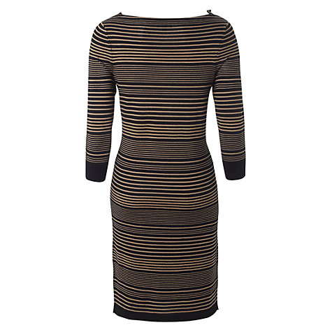 Buy Hobbs Austin Dress, Black/Mink Online at johnlewis.com