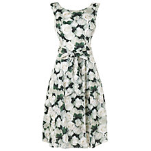 Buy Phase Eight Fit and Flare Dress, Green/Ivory Online at johnlewis.com