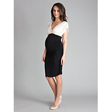 Buy Séraphine Dahlia Maternity Dress, Black/Oyster Online at johnlewis.com