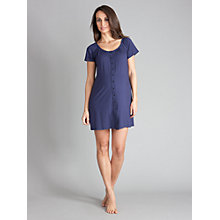Buy Seraphine Gemma Button Down Nightie, Navy Online at johnlewis.com