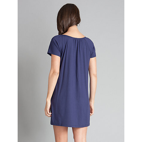 Buy Séraphine Gemma Button Down Nightie, Navy Online at johnlewis.com