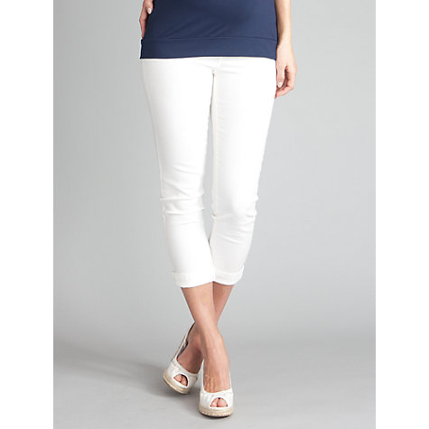 Buy Séraphine Hazel Cropped Jeans, White Online at johnlewis.com