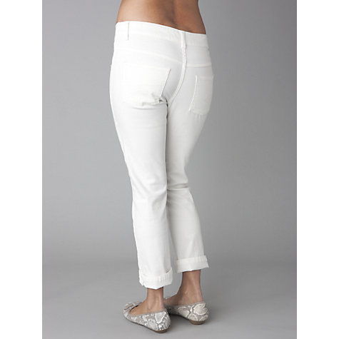 Buy Séraphine Hazel Cropped Maternity Jeans, White Online at johnlewis.com