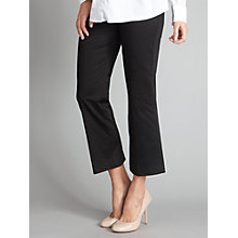 Buy Seraphine Jilly Cropped Trousers, Black Online at johnlewis.com