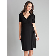 Buy Seraphine Renee Wrap Dress, Black Online at johnlewis.com