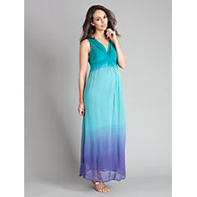 Buy Seraphine Lucia Dip Dye Dress, Turquoise Online at johnlewis.com
