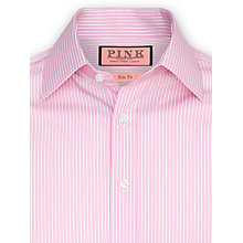 Buy Thomas Pink Nelson Stripe Slim Fit Shirt, Pink Online at johnlewis.com