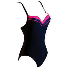 Buy Zoggs Tarcoola Boost Swimsuit, Black/Fuchsia Online at johnlewis.com