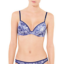 Buy Calvin Klein Seductive Comfort T-Shirt Bra, Iris Animal Print Online at johnlewis.com