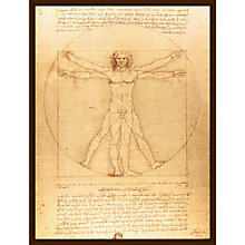 Buy Leonardo Da Vinci - Vitruvian Man Online at johnlewis.com