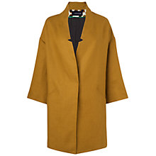 Buy Jaeger Linen Spring Coat, Gold Online at johnlewis.com