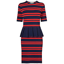 Buy Boutique by Jaeger Roxy Peplum Dress, Navy Online at johnlewis.com