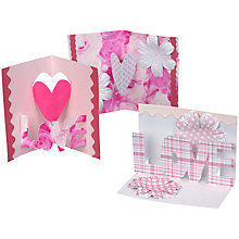 Buy Make Your Own Valentine's Card, Pop Up Designs Online at johnlewis.com