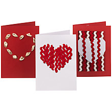 Buy Make Your Own Valentine's Cards, Ribbon Designs Online at johnlewis.com