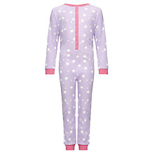 Buy John Lewis Girl Starred Onesie Online at johnlewis.com