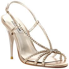 Buy Dune Heir Diamanté Strappy Slingback Sandals Online at johnlewis.com