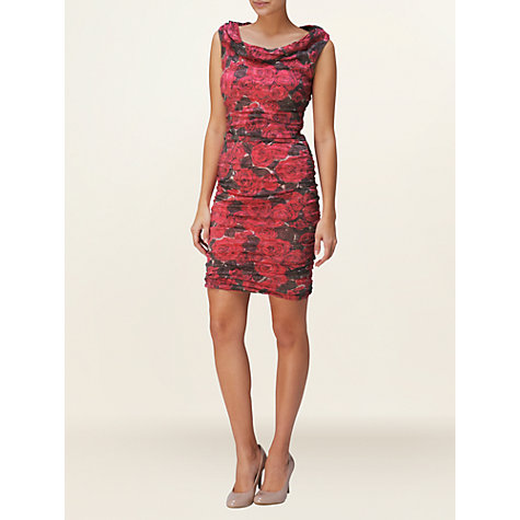 Buy Phase Eight Lulu Rosebud Dress, Raspberry Online at johnlewis.com