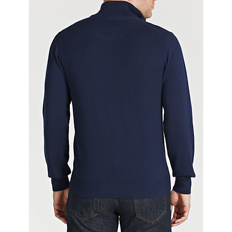 Buy Hackett London Zip Neck Cotton Jumper Online at johnlewis.com