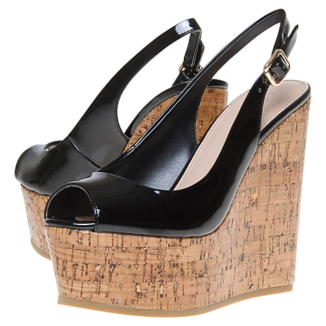 Buy Carvela Kabbalah Platform Wedge Heel Peep-Toe Slingback Shoes Online at johnlewis.com
