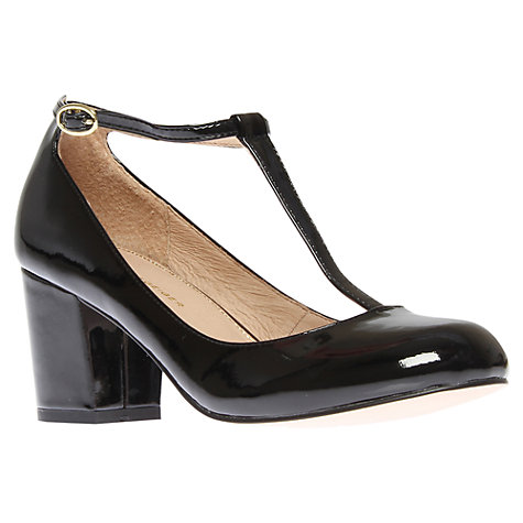 Buy KG by Kurt Geiger Daphine Round Toe T-Bar Shoes, Black Patent Online at johnlewis.com