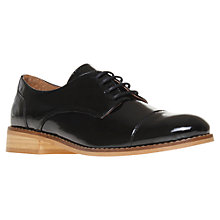 Buy KG by Kurt Geiger Lulu Patent Leather Lace-Up Brogues, Black Online at johnlewis.com